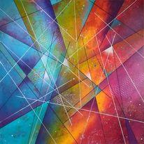 Acrylmalerei, Abstrakt, Grafik, Malerei