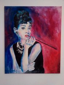 Frau, Portrait, Acrylmalerei, Malerei