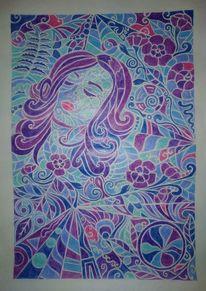 Schlaf, Polychromos, Blumen, Dornröschen