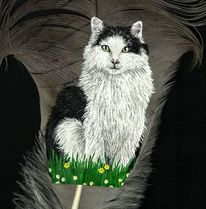 Acrylmalerei, Malen, Katze, Weiß