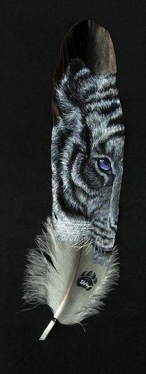 Feder, Malerei, Tiger, Malen
