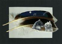 Katze, Schwarz, Weiß, Malen