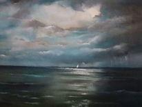 Meer, Landschaft, Wasser, Malerei