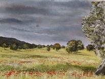 Malerei, Campo, Landschaft