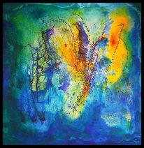 Ölmalerei, Beize, Marmormehl, Pigmente