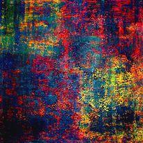Malerei, Kontrast, Rot, Grün