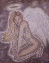 Engel, Malerei, Acrylmalerei, Ursprungsengel
