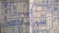 Zeichnung, Zeichnungen, Stadtplan