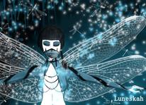 Flügel, Fantasie, Libelle, Bleistiftzeichnung