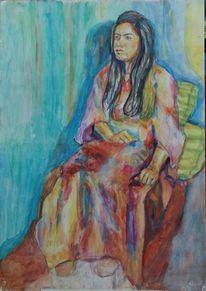Wasserfarben, Aquarellmalerei, Blau, Aquarell