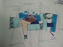 Zieh, Graffiti, Mischtechnik