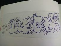 Graffiti, Weed, Mischtechnik
