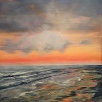 Wolken, Abendstimmung, Meer, Strand
