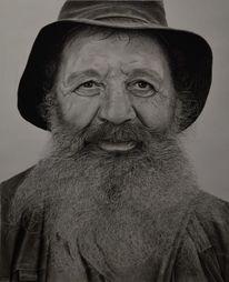 Realismus, Mann, Zeichnung, Bart