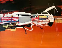 Zeitgenössisch, Metaphysisch, Luft, Acrylmalerei