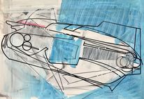 Technologie, Futurismus, Zeichnung, Luft