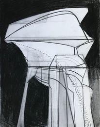 Modern, Futurismus, Zeichnung, Metaphysisch