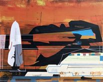 Acrylmalerei, Avantgarde, Technologie, Futurismus