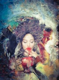 Herz, Malerei, Collage, Acrylmalerei