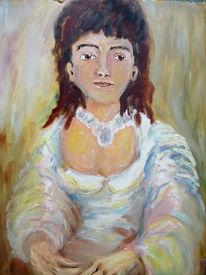 Dame, Mädchen, Frau, Malerei