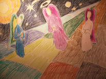 Heilig, Heiligenschein, Engel, Zeichnungen