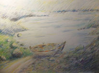 Meer, Bucht, Ruderboot, See