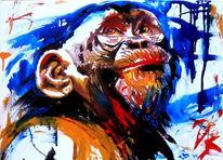 Schimpanse, Tiere, Portrait, Affe