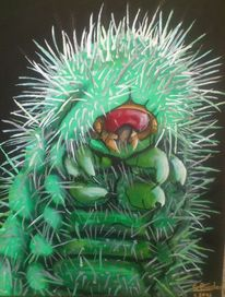 Acrylmalerei, Insekten, Grün, Tiere
