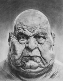 Nase, Bleistiftzeichnung, Portrait, Mund