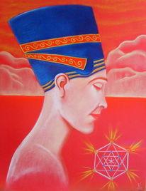 Rot, Meditation, Frau, Ägypten
