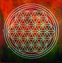 Blume des lebens, Lebensblume, Spirituell, Rund