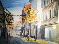 Altstadt, Herbst, Stadtszene, Hattingen