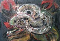 Schlange, Spirale, Blumen, Malerei