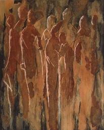 Braun, Rost, Abstrakt, Menschen