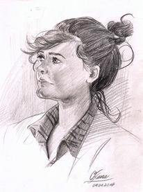 Polychromos, Bleistiftzeichnung, Zeichnung, Portrait