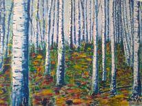 Malerei, Birkenwald pulkau,