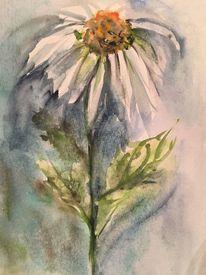 Aquarellmalerei, Margerite, Blumen, Aquarell