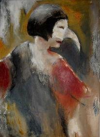 Acrylmalerei, Venedig, Menschen, Abstrakt