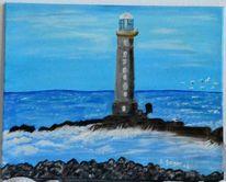 Malerei, Meer, Landschaft, Natur