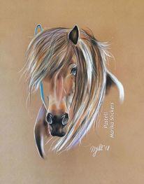 Pferde, Kunstwerk, Liebe, Insel