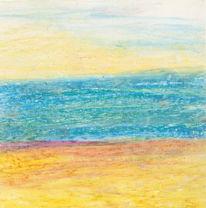 Meer, Horizont, Portrait, Landschaft