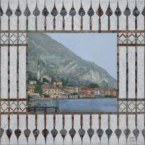 Gardasee, Zaun, Malerei, Il