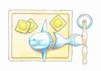 Ravioli, Mondfisch, Sunfish, Zeichnungen
