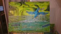 Wasser, Magie, Grün, Malerei