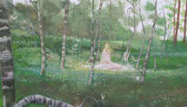 Birkenwald, Naturwesen, Landschaft, Baumstamm