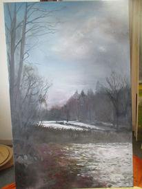 Abendhimmel, Schnee, Ems, Malerei