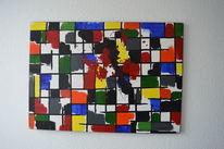 Abstrakt, Acrylmalerei, Pinsel, Malerei