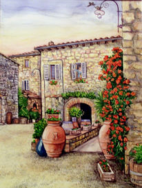 Toskana 452 bilder und ideen auf kunstnet landschaft - Mediterrane wandbilder ...
