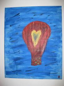Ballon, Malerei, Blau