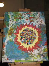 Abstrakt, Bunt, Malerei, Stern